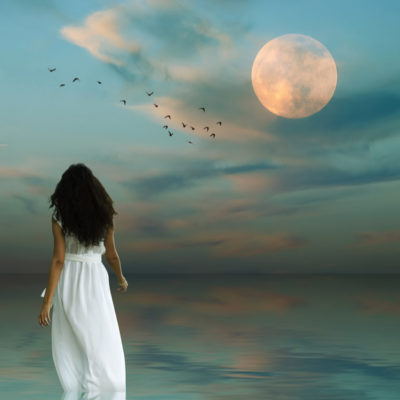 moon and woman